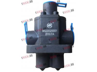 Клапан управления КПП (2 штока+3 отв. под трубки) H3 HOWO (ХОВО) WG2203250001 фото 1 Орск